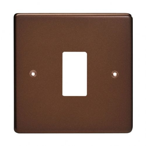 Varilight XDMPG1 PowerGrid Mocha 1 Gang Grid Plate (Single Plate)